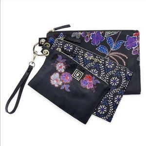 3-pc. Makeup Cosmetic Bag Set Liz Claiborne NEW